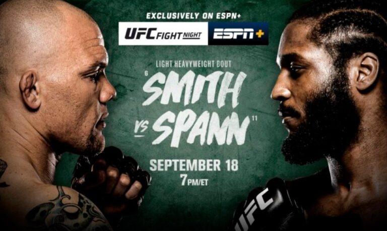 Watch UFC Fight Night: Smith vs. Spann 9/18/21