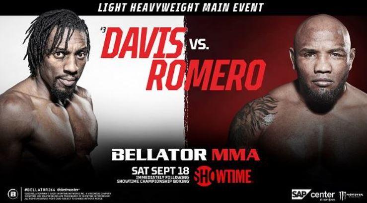 Watch Bellator 266 Davis V Romero 9/18/21