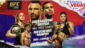 Watch UFC 266: Volkanovski vs. Ortega 9/25/21